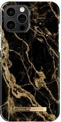 iDeal of Sweden Fashion Case iPhone 12 PRO MAX Golden Smoke Marble