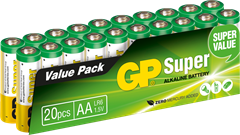 GP Super Alkaline LR6/AA 20-pack