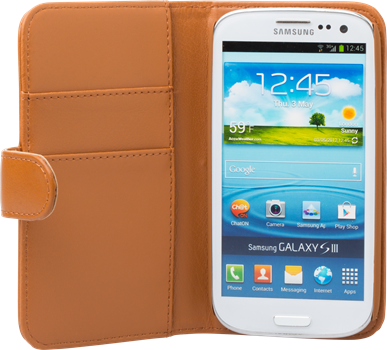 iZound Leather Wallet Case Samsung Galaxy S III Brown