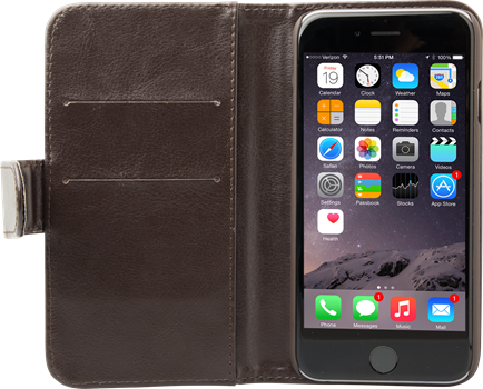 iZound Wallet Case iPhone 6/6S Plus Dark Brown