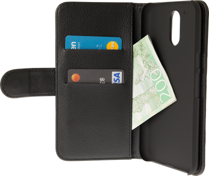 iZound Leather Wallet Case Lenovo Moto G4/G4 Plus Black