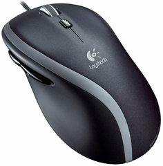 LOGITECH Corded Mouse M500 Black