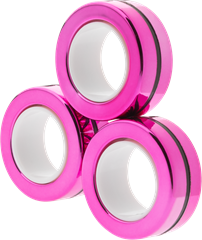 Magnetic Rings Chrome Pink