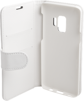 iZound Leather Wallet Case Samsung Galaxy S9 White