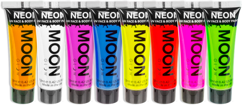 Face and Body Paint NEON UV Assorted Colours