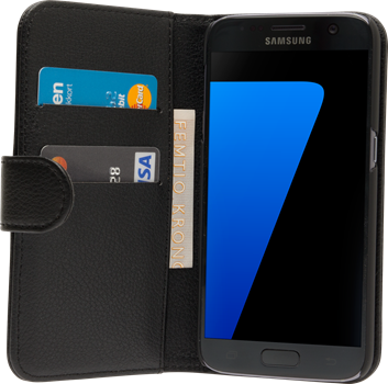 iZound Leather Wallet Case Samsung Galaxy S7 Black
