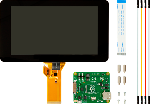 "Raspberry Pi 7"" Touch Screen LCD"