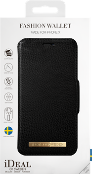 iDeal of Sweden Fashion Wallet iPhone X Black