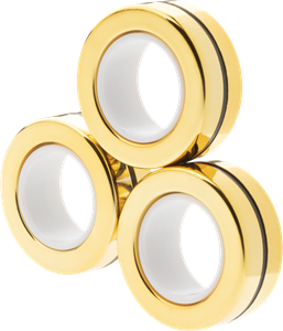 Magnetic Rings Chrome Gold