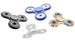 Fidget Spinner 4 bearings assorted