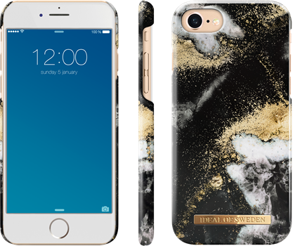 iDeal of Sweden Fashion Case iPhone 6/6S/7/8/SE Black Galaxy Marble