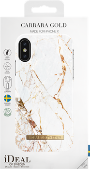 iDeal of Sweden Fashion Case iPhone X Carrara Gold