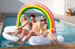 Pool Float Giant Extreme Rainbow Cloud