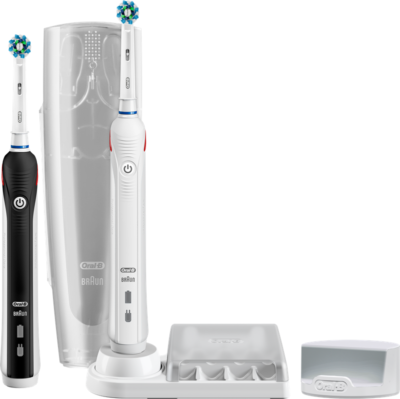 Oral-B Pro 5900 CrossAction Duo  Smarte elektriske tannbørster med ... 957365bd83a49