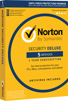 Norton Security Deluxe 3.0 ND 1 User 5 Devices