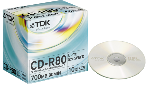 TDK CD-R 10-pack (JewelCase)