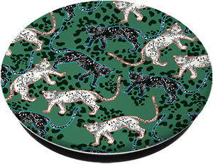 Richmond & Finch Popsocket Green leopard