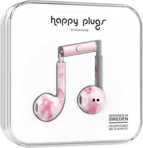 Happy Plugs Earbud Plus Pink Marble