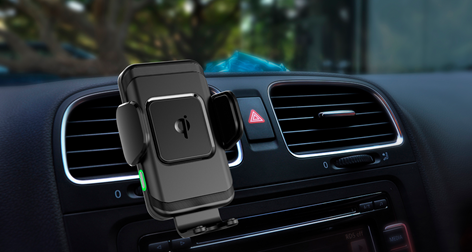 iZound CC-70 Automatic Fast Wireless Qi Car Charger 10 W