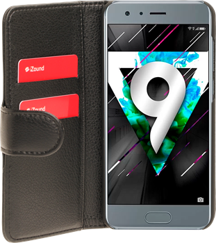 iZound Leather Wallet Case Huawei Honor 9 Black