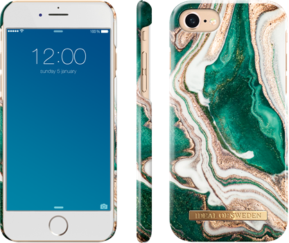 iDeal of Sweden Fashion Case iPhone 6/6S/7/8/SE Golden Jade Marble