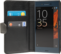 iZound Leather Wallet Case Sony Xperia XZ Black