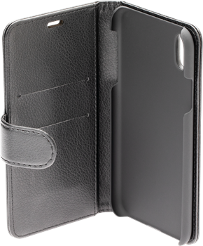 iZound Leather Wallet Case iPhone XR Black