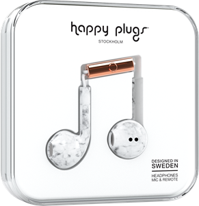 Happy Plugs Earbud Plus White Marble
