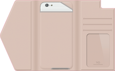 White Diamonds Window Wallet iPhone 6 Pink