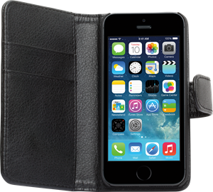 iZound Leather Wallet Case iPhone 5 Black