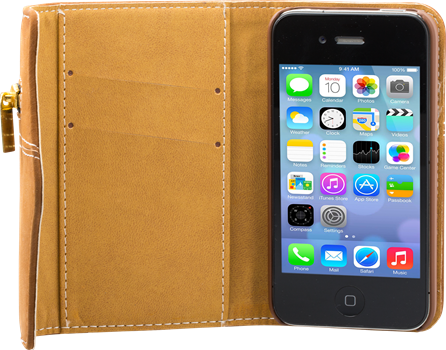 iZound Zip Wallet Case iPhone 4/4S Brown