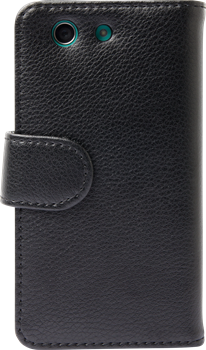 iZound Leather Wallet Case Sony Xperia Z3 Compact Black
