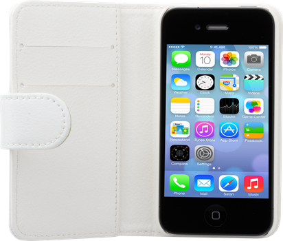 iZound Leather Wallet Case iPhone 4/4S White