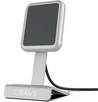 CRAVE Wireless Charger Silver Compact Stand