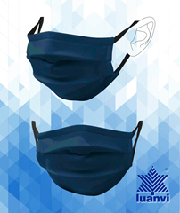 Lunavi Washable Facemask - Marine Blue Medium