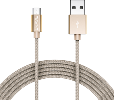 CRAVE Micro to USB 0,9m Gold