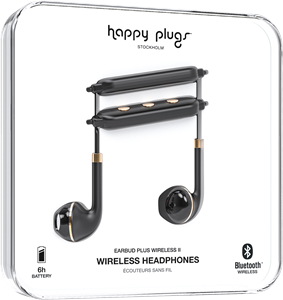 Happy Plugs Earbud Plus Wireless II Black Gold