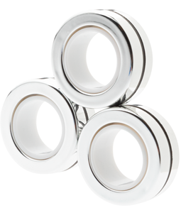 Magnetic Rings Chrome Silver