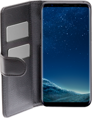 iZound Leather Wallet Case Samsung Galaxy S8 Plus Black