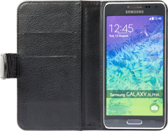 iZound Leather Wallet Case Samsung Galaxy Alpha Black
