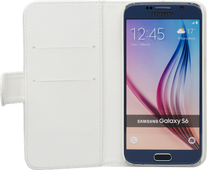iZound Leather Wallet Case Samsung Galaxy S6 White