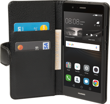 iZound Leather Wallet Case Huawei P9 Lite Black