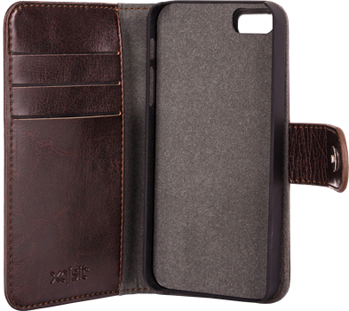 Xqisit WalletCase Eman iPhone 5/5S Brown
