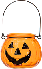 Halloween Pumpkin Candle Holder