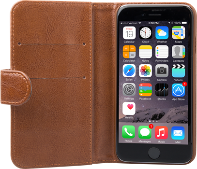 iZound Leather Wallet Case iPhone 6/6S Brown