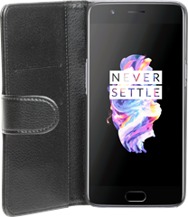 iZound Leather Wallet Case OnePlus 5 Black
