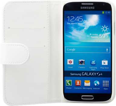 iZound Leather Wallet Case Samsung Galaxy S4 White