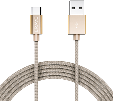 CRAVE Type-C to USB 0,9m Gold