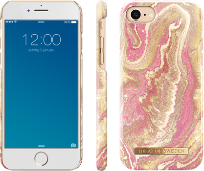 iDeal of Sweden Fashion Case iPhone 6/6S/7/8 Golden Blush Marble