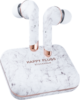Happy Plugs Air 1 Plus In-Ear White Marble